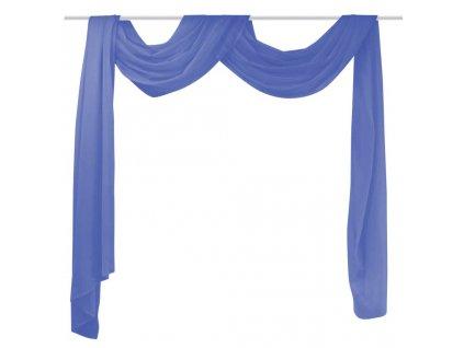 Voálový přehoz, 2 ks, 140x600 cm, královská modř