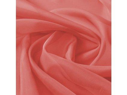 Voálová tkanina, 1,45x20 m, červená