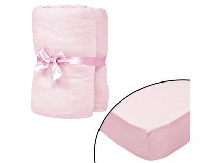 Napínací prostěradla do kolébky 4 ks jersey 40 x 80 cm růžová