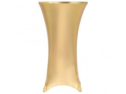 2 ks Elastické návleky na stůl zlaté 80 cm