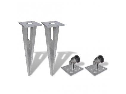 Držáky pro plotové vzpěry 2 ks ocel