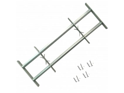 Nastavitelná bezpečnostní okenní mříž se 2 příčlemi 500–650 mm