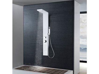 Sprchový panel set hliníkový matný bílý
