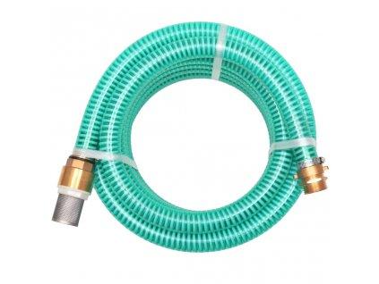 Sací hadice s mosaznými konektory 15 m 25 mm zelená