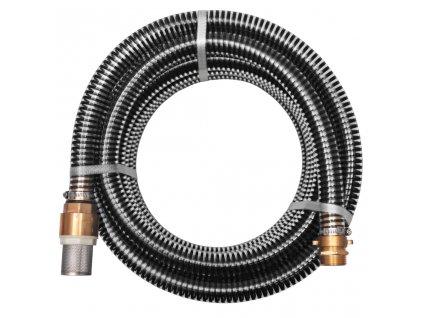 Sací hadice s mosaznými konektory 4 m 25 mm černá