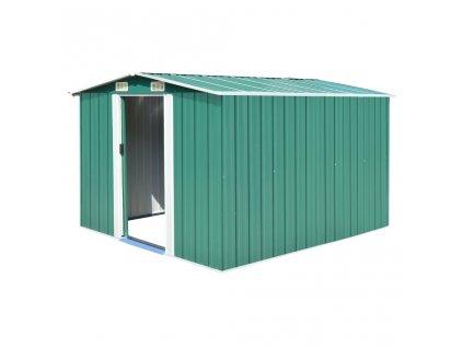 Zahradní domek 257 x 298 x 178 cm kovový zelený