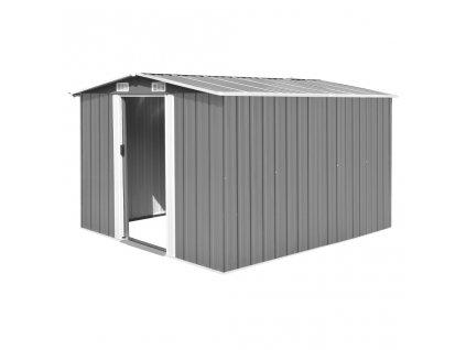 Zahradní domek 257 x 298 x 178 cm kovový šedý
