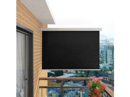 Balkonová zástěna multifunkční 180 x 200 cm černá