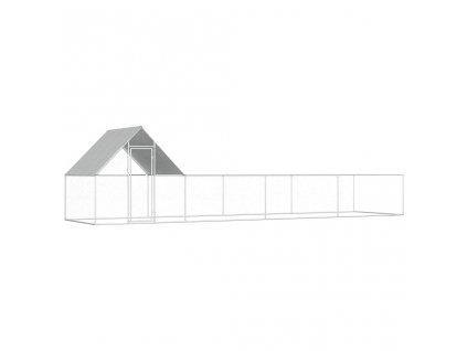 Klec pro kuřata 8 x 2 x 2 m pozinkovaná ocel