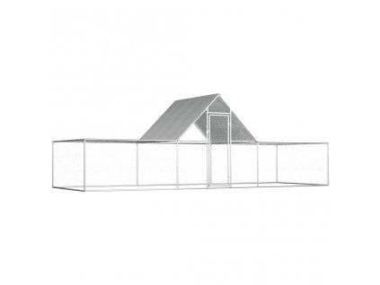Klec pro kuřata 6 x 2 x 2 m pozinkovaná ocel