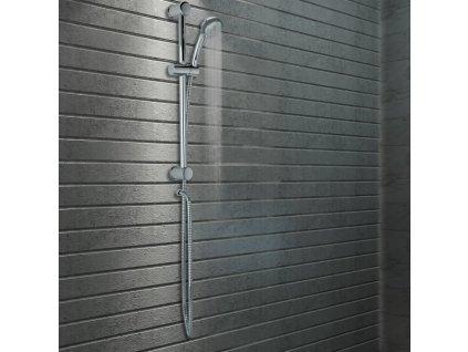 2dílná sada sprchová tyč a ruční sprcha kovová