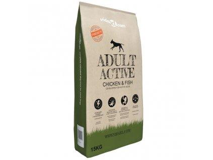 Prémiové suché krmivo pro psy Adult Active Chicken & Fish 15 kg