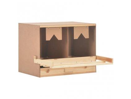 Snáškové hnízdo 2 boxy 63 x 40 x 45 cm masivní borovice