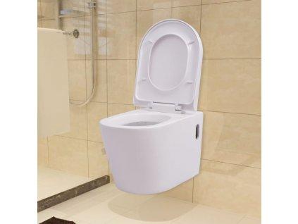 Závěsné WC keramické bílé