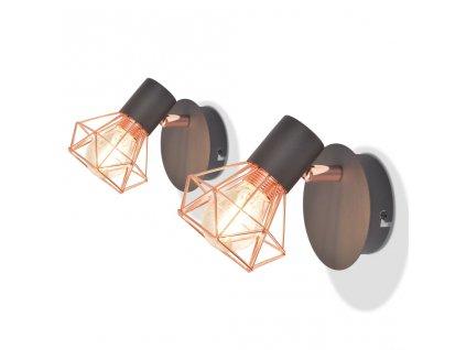 Nástěnné lampy 2 ks 2 LED žárovky se žhavicím vláknem 8 W