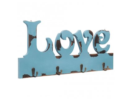 Nástěnný věšák LOVE 50 x 23 cm