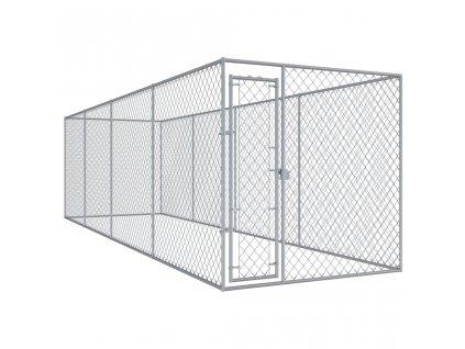 Venkovní psí kotec 7,6 x 1,9 x 2 m
