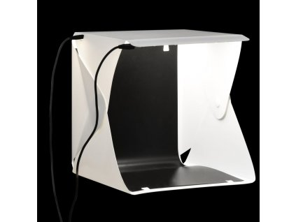 Skládací LED softbox pro foto studio 23 x 25 x 25 cm bílý