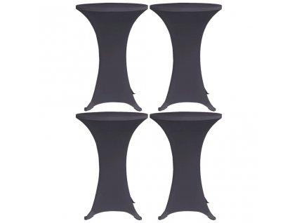 Strečové návleky na stůl 4 ks 80 cm antracitové