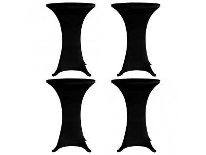 Návleky na koktejlový stůl Ø 70 cm černé strečové 4 ks
