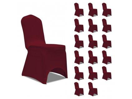 Potahy na židle strečové vínové 18 ks