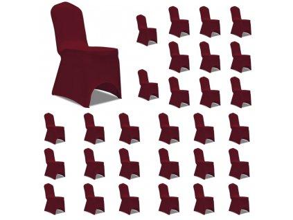 Potahy na židle napínací vínové 30 ks