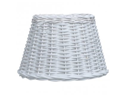 Stínidlo na lampu proutěné 38 x 23 cm bílé