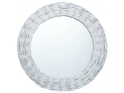 Zrcadlo bílé 80 cm proutí