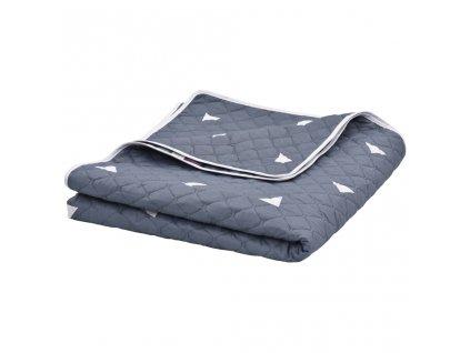 Přikrývka tmavě modrá 220 x 240 cm prošívaná ultrasonic textil