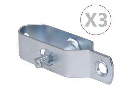 Napínáky na drátěný plot 3 ks 90 mm ocel stříbrné