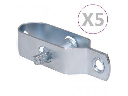 Napínáky na drátěný plot 5 ks 100 mm ocel stříbrné