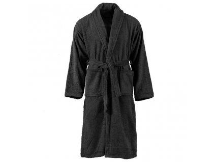 Unisex froté župan 100% bavlna černý L