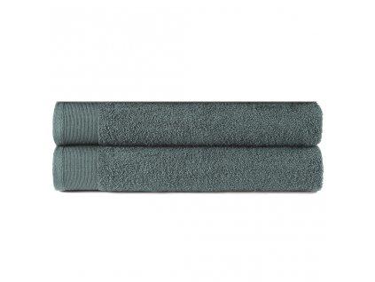 Ručníky 2 ks bavlna 450 g/m² 50 x 100 cm zelené