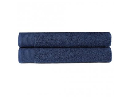 Ručníky 2 ks bavlna 450 g/m² 50 x 100 cm námořnická modrá