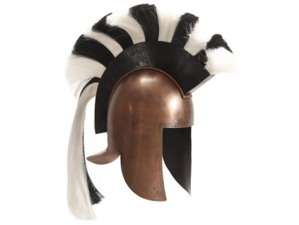 Řecká vojenská přilba pro LARPy replika měď ocel