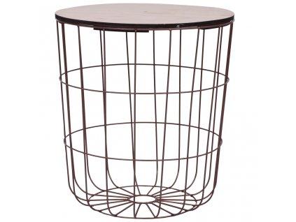 Konferenční stolek měděný Ø 39,5 cm MDF