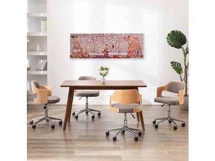 Sada nástěnných obrazů na plátně Strom žlutá 120 x 40 cm