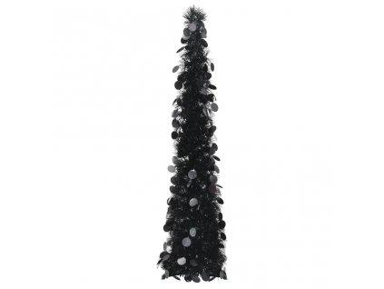 Rozkládací umělý vánoční stromek černý 120 cm PET