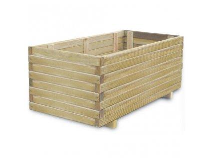 Vyvýšený záhon 100 x 50 x 40 cm dřevo obdélníkový