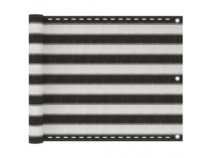 Balkónová zástěna HDPE 75x400 cm antracitová a bílá