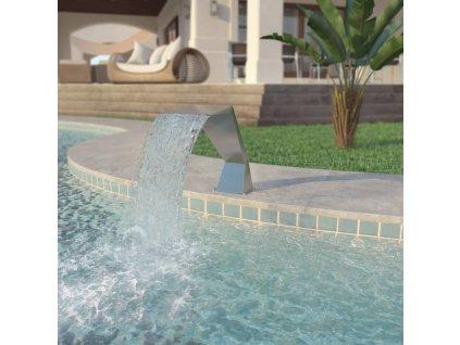 Bazénová fontána, nerezová ocel, 64x30x52 cm, stříbrná