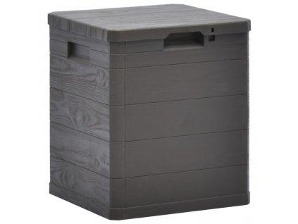 Zahradní úložný box 90 l hnědý