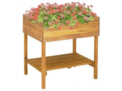 Vyvýšený zahradní truhlík 78,5 x 58,5 x 78,5 cm masivní akácie
