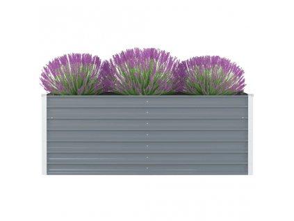 Vyvýšený zahradní truhlík 160x80x45 cm pozinkovaná ocel šedý