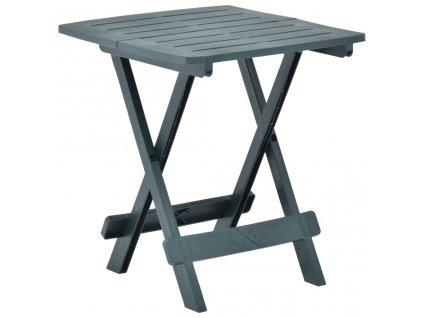 Skládací zahradní stůl zelený 45 x 43 x 50 cm plast