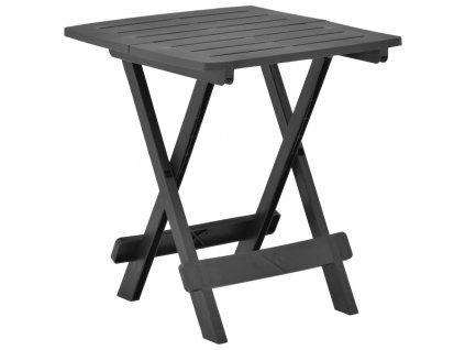 Skládací zahradní stůl antracitový 45 x 43 x 50 cm plast