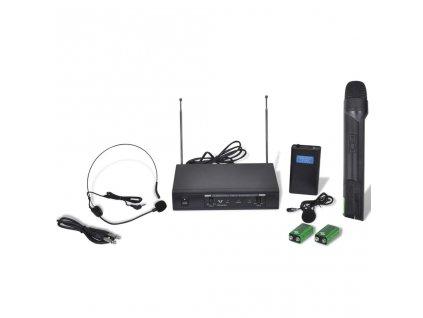 Bezdrátový mikrofonní systém VHF - 1 mikrofon + 1 headset mikrofon