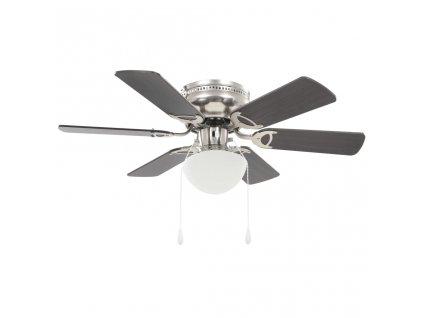 Ozdobný stropní ventilátor se světlem 82 cm tmavě hnědý