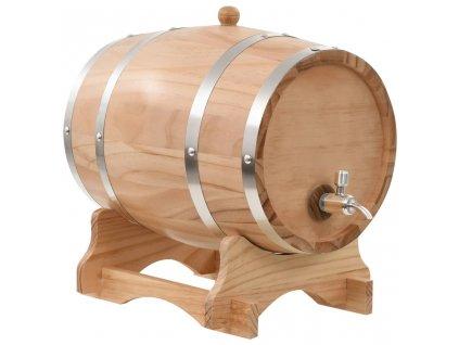 Soudek na víno s pípou masivní borovice 12 l