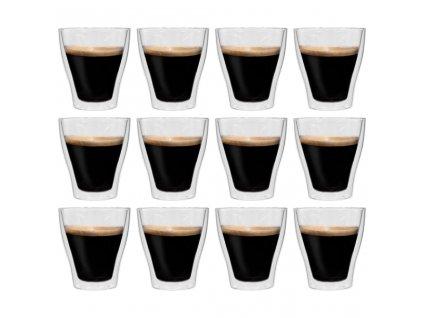 Dvoustěnná termo sklenice na latte macchiato 12 ks 280 ml